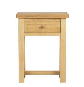 Charltons Bretagne Solid Oak 1 Draw Console Table